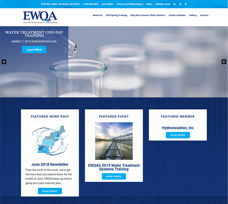 EWQA Website Screenshot