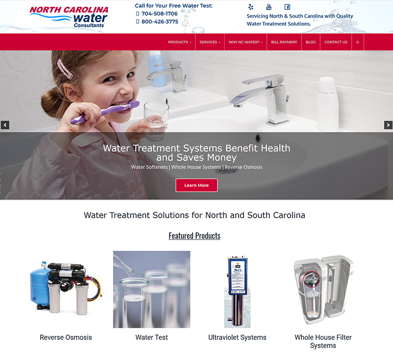 North Carolina Water Consultants Screenshot